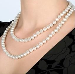 perlový náhrdelník - matinee